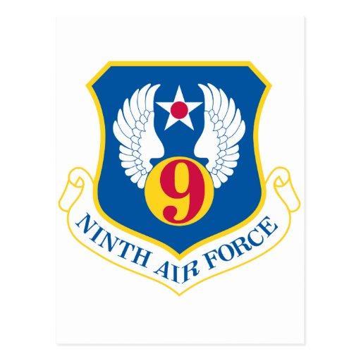 9no Fuerza aérea de U S Tarjeta Postal