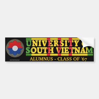 9no Inf. Div. - U del pegatina del alumno de Vietn Etiqueta De Parachoque