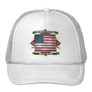 9no Infantería de Indiana Gorros Bordados