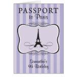 9no Invitación del pasaporte de París del Tarjeta Pequeña