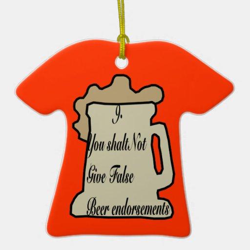 9no Mandamiento del ornamento de la cerveza Ornamento Para Reyes Magos