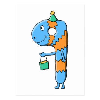 9no Monstruo del dibujo animado del cumpleaños Tarjetas Postales