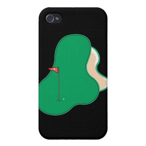 9no noveno gráfico del campo de golf del agujero iPhone 4 carcasa