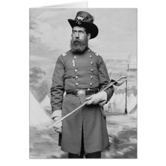 9no Oficial de Massachusetts, 1860s Tarjeta De Felicitación