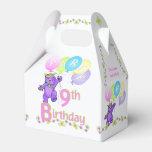 9no Princesa Bear Custom del cumpleaños Paquetes Para Detalles De Bodas
