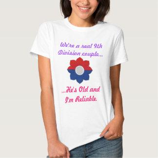 9no Shirt de la división de vieja señora confiable Poleras