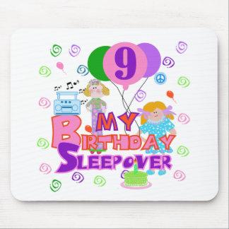 9no Sleepover del cumpleaños Tapete De Ratón
