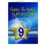 9no Tarjeta de cumpleaños para la superestrella