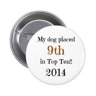 9no top diez del lugar pin redondo 5 cm