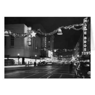 9no y calles de K, Sacramento, CA, 1947 Tarjeta De Felicitación