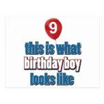 9nos diseños años del cumpleaños postal