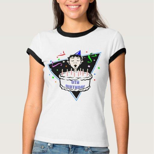 9nos regalos de cumpleaños de los muchachos tee shirts
