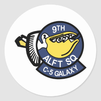 9th Airlift Squadron Classic Round Sticker