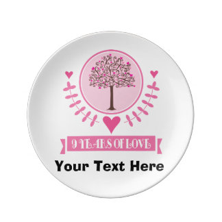 9th wedding anniversary plates zazzle 9th anniversary gift idea for friend plate negle Choice Image