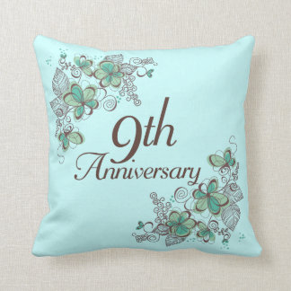 9th wedding anniversary pillows decorative throw pillows zazzle 9th anniversary gift throw pillow negle Choice Image
