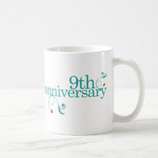 9th Anniversary Coffee Mugs