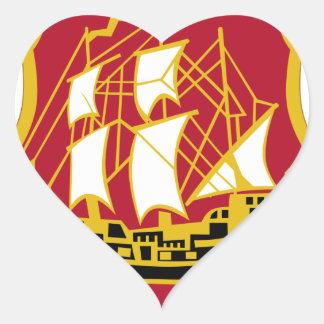 9th Antiaircraft Artillery Gun Battalion Heart Sticker