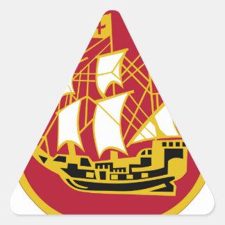 9th Antiaircraft Artillery Gun Battalion Triangle Sticker