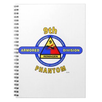 """9TH ARMORED DIVISION """"PHANTOM"""" DIVISION NOTEBOOK"""