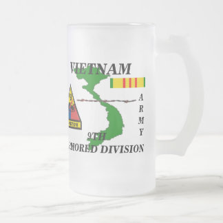 9th Armored Division Vietnam Frosted Mug