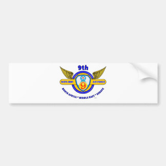"9TH ARMY AIR FORCE ""ARMY AIR CORPS"" WW II BUMPER STICKER"
