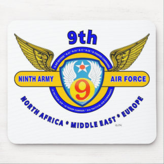 """9TH ARMY AIR FORCE """"ARMY AIR CORPS"""" WW II MOUSE PAD"""