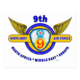 """9TH ARMY AIR FORCE """"ARMY AIR CORPS"""" WW II POST CARDS"""