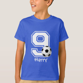 9th birthday boy soccer tshirt