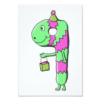 "9th Birthday. Bright and Colorful Cartoon. 3.5"" X 5"" Invitation Card"