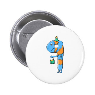 9th Birthday Cartoon Monster Button