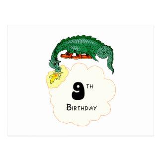 9th Birthday Dragon Postcard