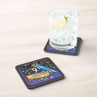 9th Birthday Drink Coaster