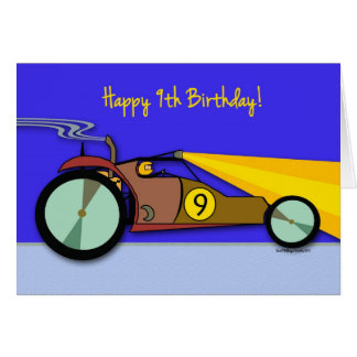 9th Birthday for Child, Dune Buggy at Night Card