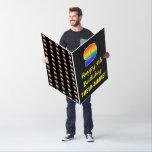 [ Thumbnail: 9th Birthday: Fun, Colorful, Happy, Rainbow # 9 Card ]