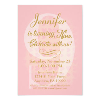 9 Year Old Invitations Announcements Zazzle
