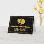 "[ Thumbnail: 9th Birthday: Name + Art Deco Inspired Look ""9"" Card ]"