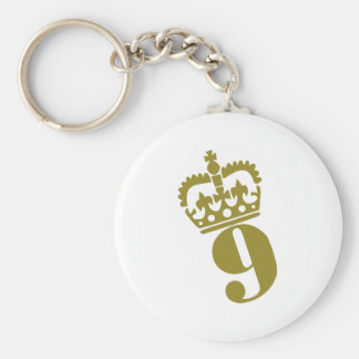 9th Birthday - Number – Nine Keychain