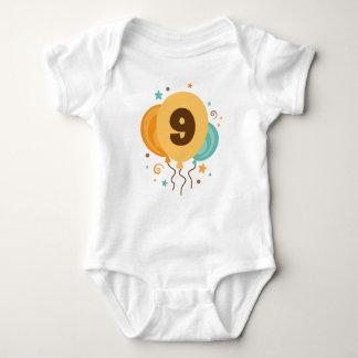 9th Birthday Party Gift Idea Baby Bodysuit