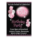 9th Birthday Party Invitation