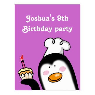 9th birthday party personalized invitations post cards