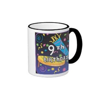 9th Birthday Ringer Coffee Mug