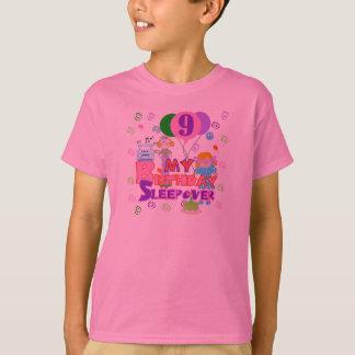 9th Birthday Sleepover T-Shirt