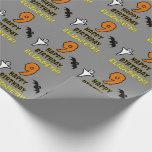 [ Thumbnail: 9th Birthday: Spooky Halloween Theme + Custom Name Wrapping Paper ]