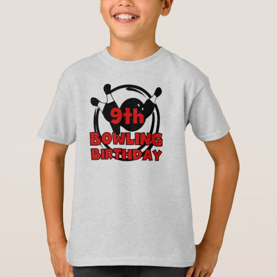 9th Bowling Birthday T-Shirt