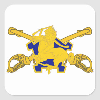 9TH CAVALRY DUI - CROSSED SABERS DESIGN STICKERS