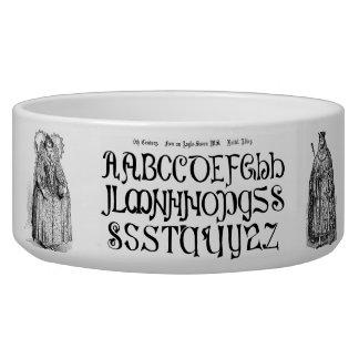 9th Century Alphabet Pet Bowl