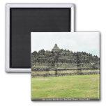 9th century Borobudur, Buddhist Stupa, Java, Indon Magnet