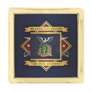 9th Connecticut Volunteer Infantry Gold Finish Lapel Pin