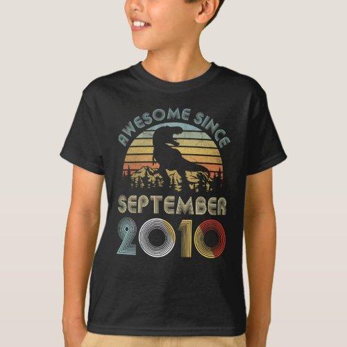 9th Dinosaur Birthday Boy 9 Year Old September 201 T_Shirt