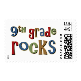 9th Grade Rocks Ninth Stamp
